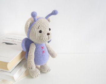 Amigurumi Crochet Patterns Teddy Bears : Pattern teddy bear in a butterfly costume classic way jointed