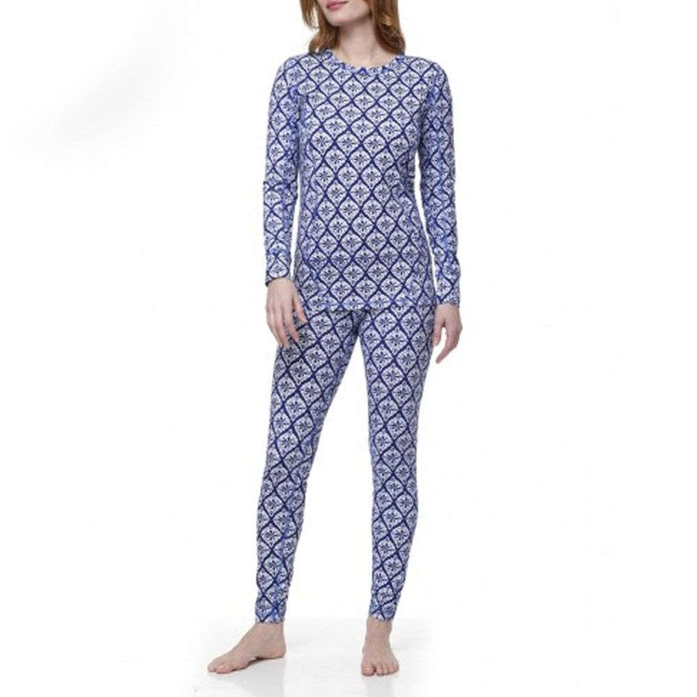 Hatley Medallion Thermal Base Layer Set in Navy
