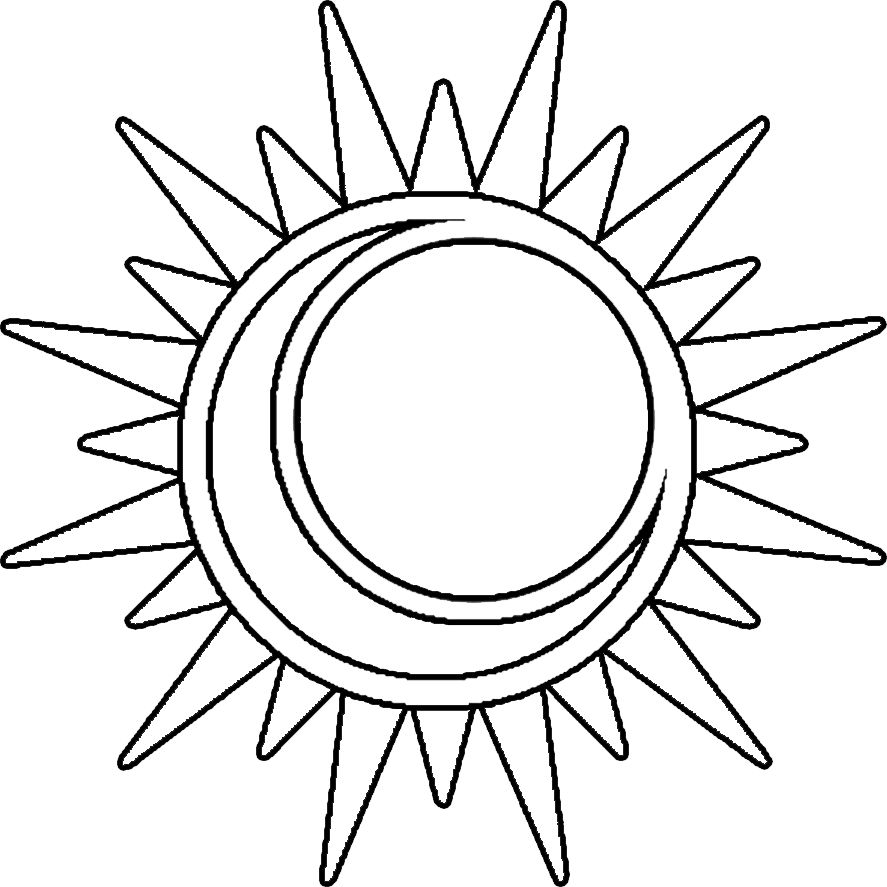 Sun and moon coloring pages | Silhouette Cameo | Pinterest | Moon ...