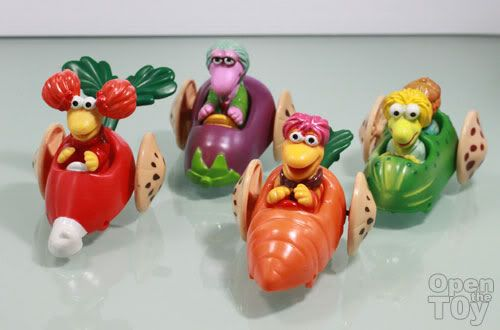 Redhead toy veggies