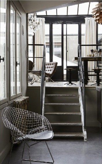 Black and white living space