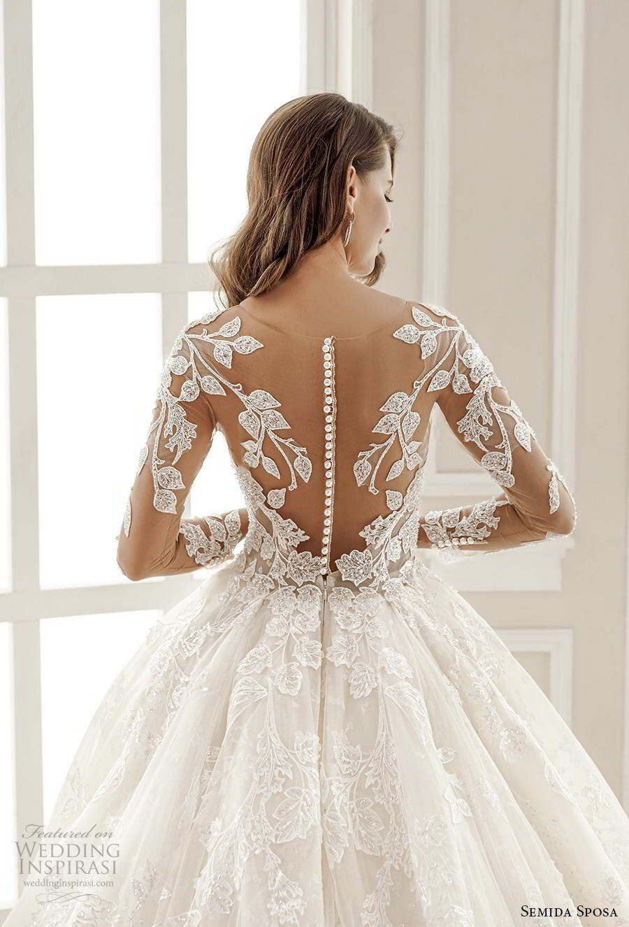 Semida Sposa 2020 Wedding Dresses Amazon Bridal Collection Wedding Inspirasi Wedding Dresses Lace Wedding Dress Necklines Wedding Dresses [ 1326 x 900 Pixel ]