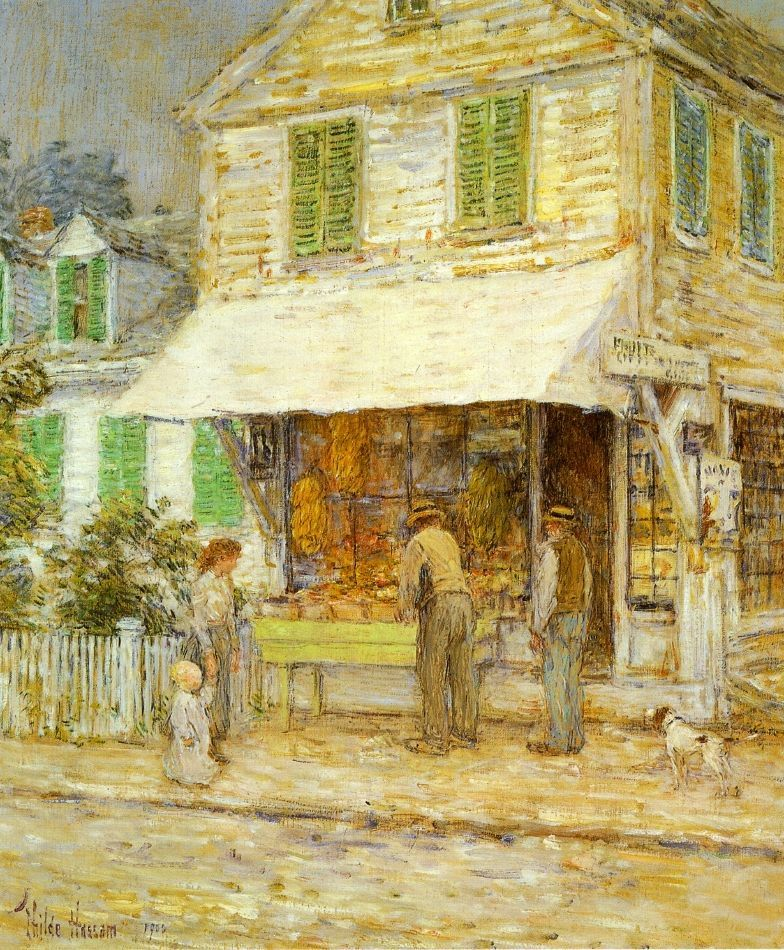 In the old house by Childe Hassam Giclee Fine ArtPrint Reproduction on Canvas
