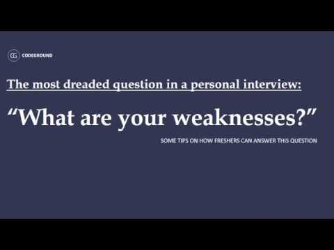 What Are Your Weaknesses? | Recruiter's Super Blog