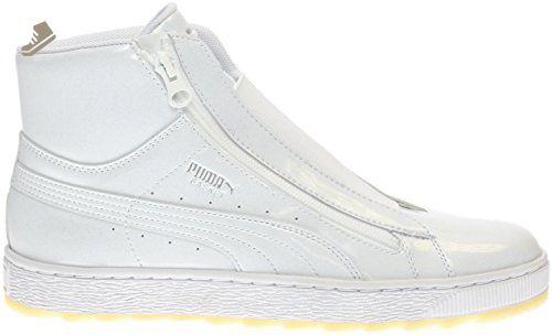 PUMA Women's Basket Mid Wtr Wn's Fashion Sneaker, Puma White