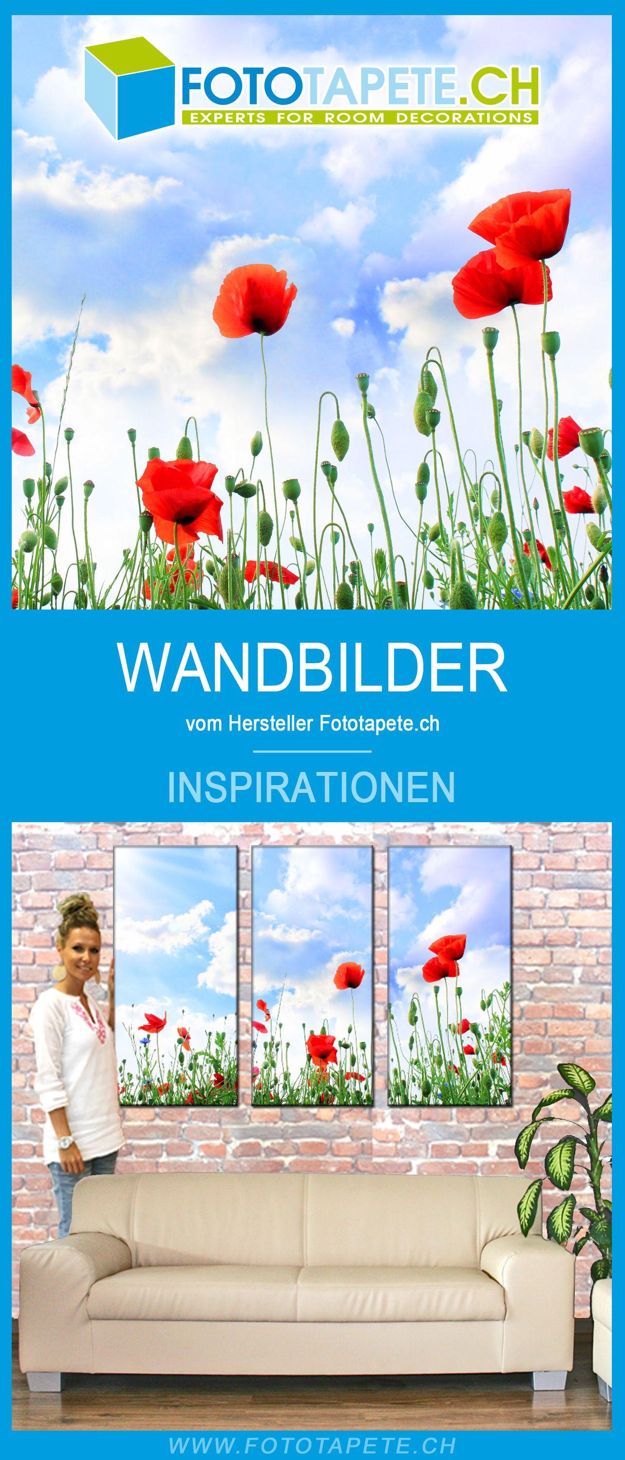 Mehrteiliges Mohnblumen Wandbild Wandidee Triptychon In 2020 Wandbilder Mohnblume Bilder