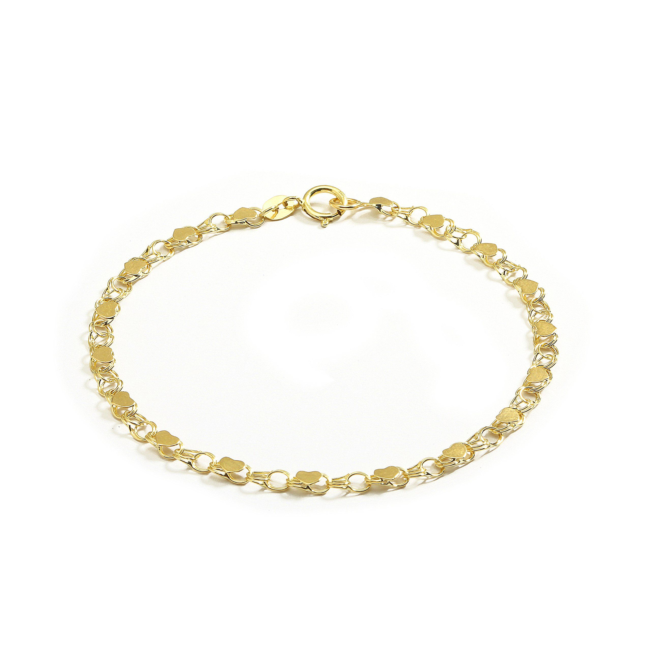 yellow shop moon sale jewels bracelets women womens pure online anklet gold bracelet design for just