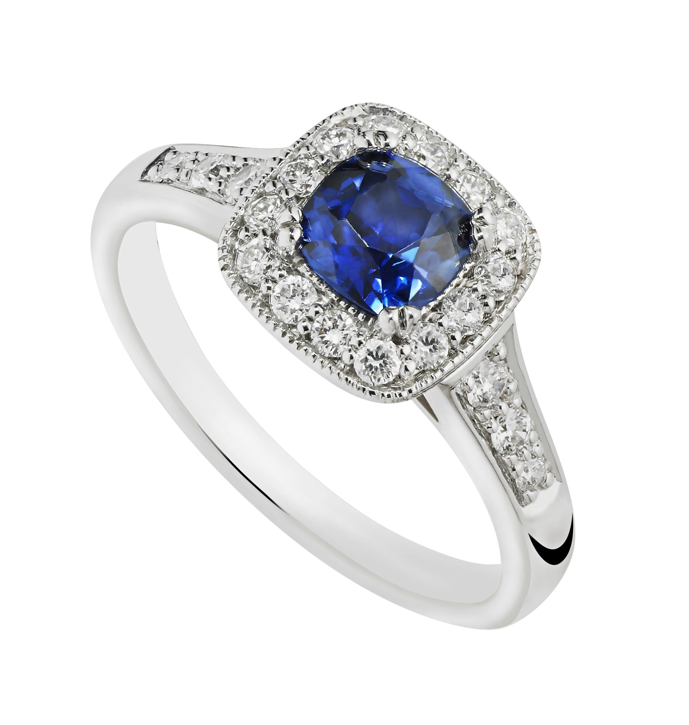 rings platinum jewellery cut square ct i untreated ceylon diamond ring blue sapphire