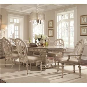 Empire II Double Pedestal Two Leaf Table And Oval Back Chair Dining Set By  Schnadig At Stoney Creek Furniture