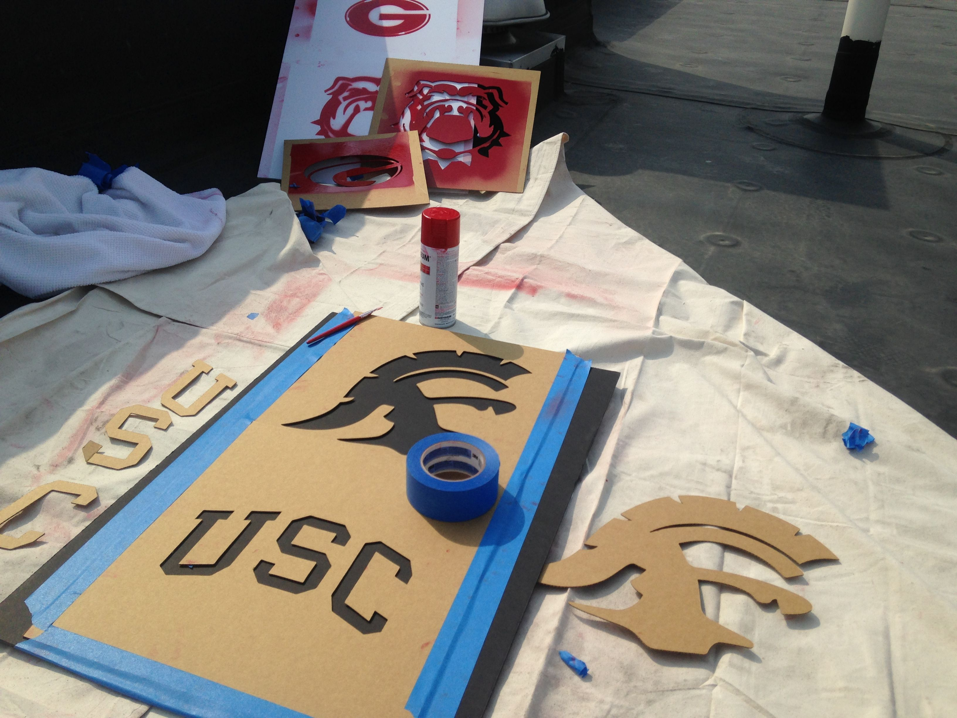 University Of Southern California Usc Trojans Stencil