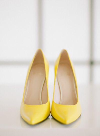 94d8e14e4 Yellow wedding shoes  http   www.stylemepretty.com 2015