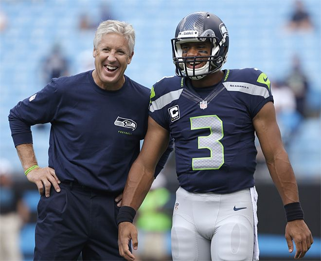 Pete Carroll and Russell Wilson #Seahawks