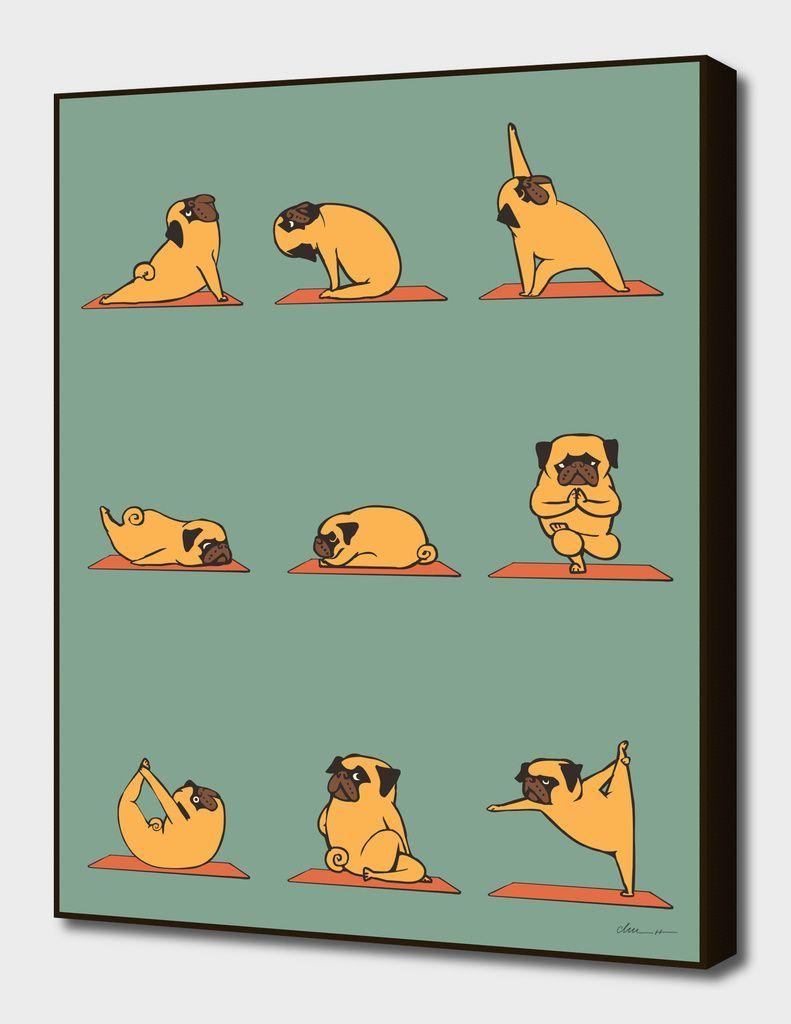 Pug Yoga Main Illustratio Pug Yoga Main Illustration Yoga Art Pugs Pugs Funny Funny pug doing yoga iphone wallpaper