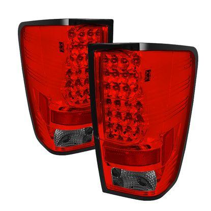 2004-2015 Nissan Titan LED Tail Lights - Red Smoke