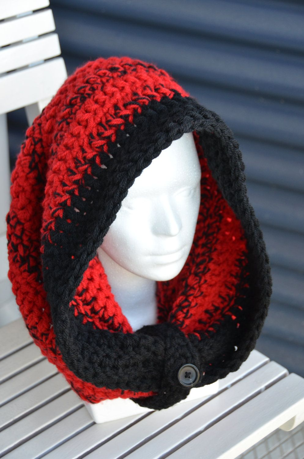 Large Hooded Cowl - Striped Version CROCHET PATTERN No.5. $4.99, via ...