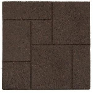 Envirotile Cobblestone Earth 18 In. X 18 In. Rubber Paver MT5000637   The Home  Depot