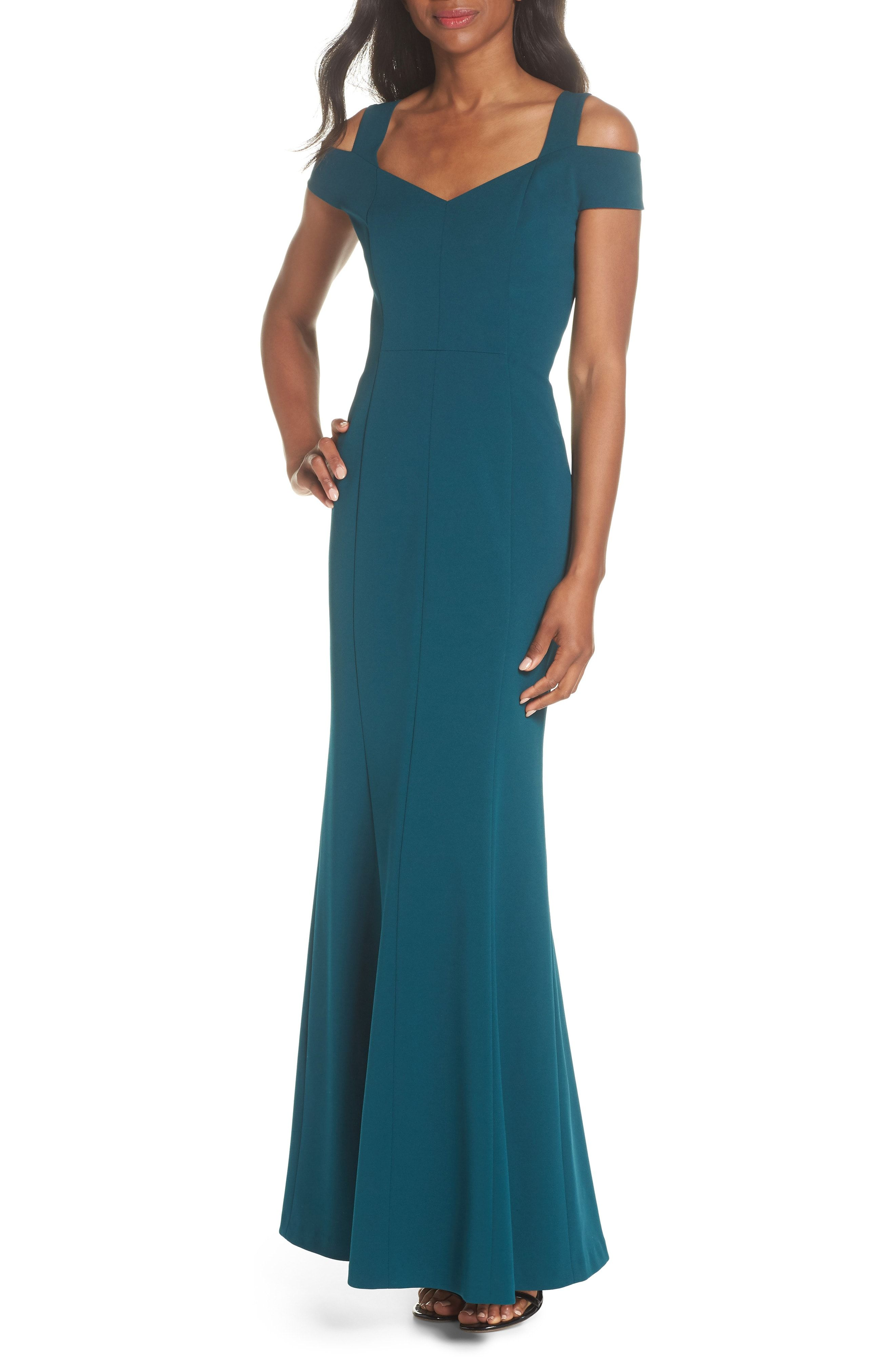 45a2c22df99ef New Eliza J Cold Shoulder Scuba Crepe Trumpet Gown (Regular amp  Petite)  from the popular stores - all in one. Sku jbrg45205nmon95436