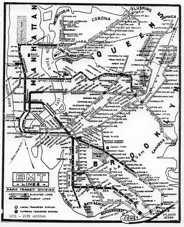 Nyc Subway Map Cards.Subway Map 1931 To 1939 Www Nycsubway Org Lorena A Hickok Aka