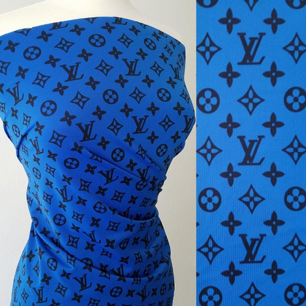 95e987a79 NEW ARRIVAL: LV designer inspired royal blue spandex! #fabrics  #bestvaluebuttons
