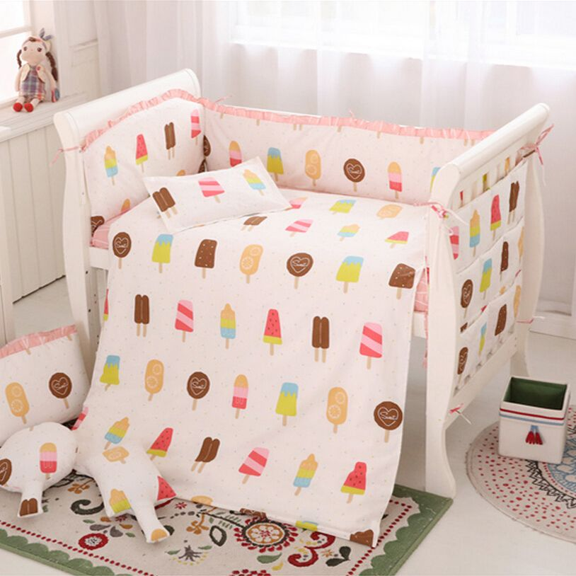 (Buy here: http://appdeal.ru/1ltc ) Bedding Set Baby Girl,New Baby Bedding Set 6pcs Cotton Pink Mattress,Breathable Baby Crib Bumper,Baby Bedding Quilt,Sabanas Cuna for just US $41.00
