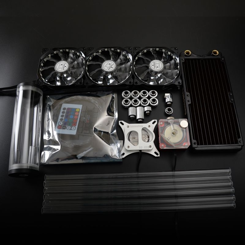 Syscooling Colorful Control System Hard Tube Liquid Cooling Kit