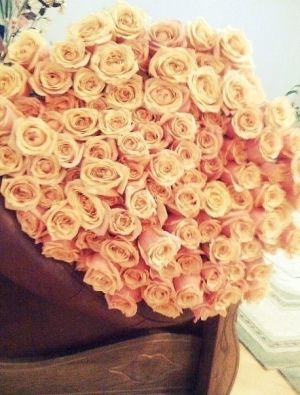 Roses by a huge bunch.