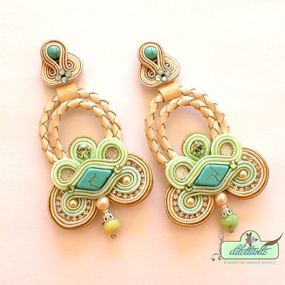 Boucles d'oreilles turquoise swarovski
