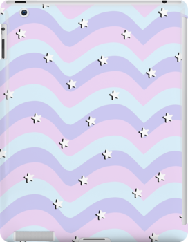 Cute Aesthetic Pastel Stars Ipad Snap Case by spillthebeenz