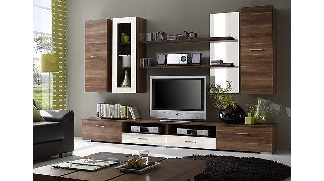 Wohnzimmerschrank Günstig ~ Wohnwand in grau weiß von xora wohnwände pinterest 30th