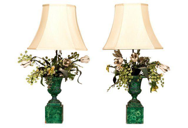 Tony Duquette Table Lamps Pair