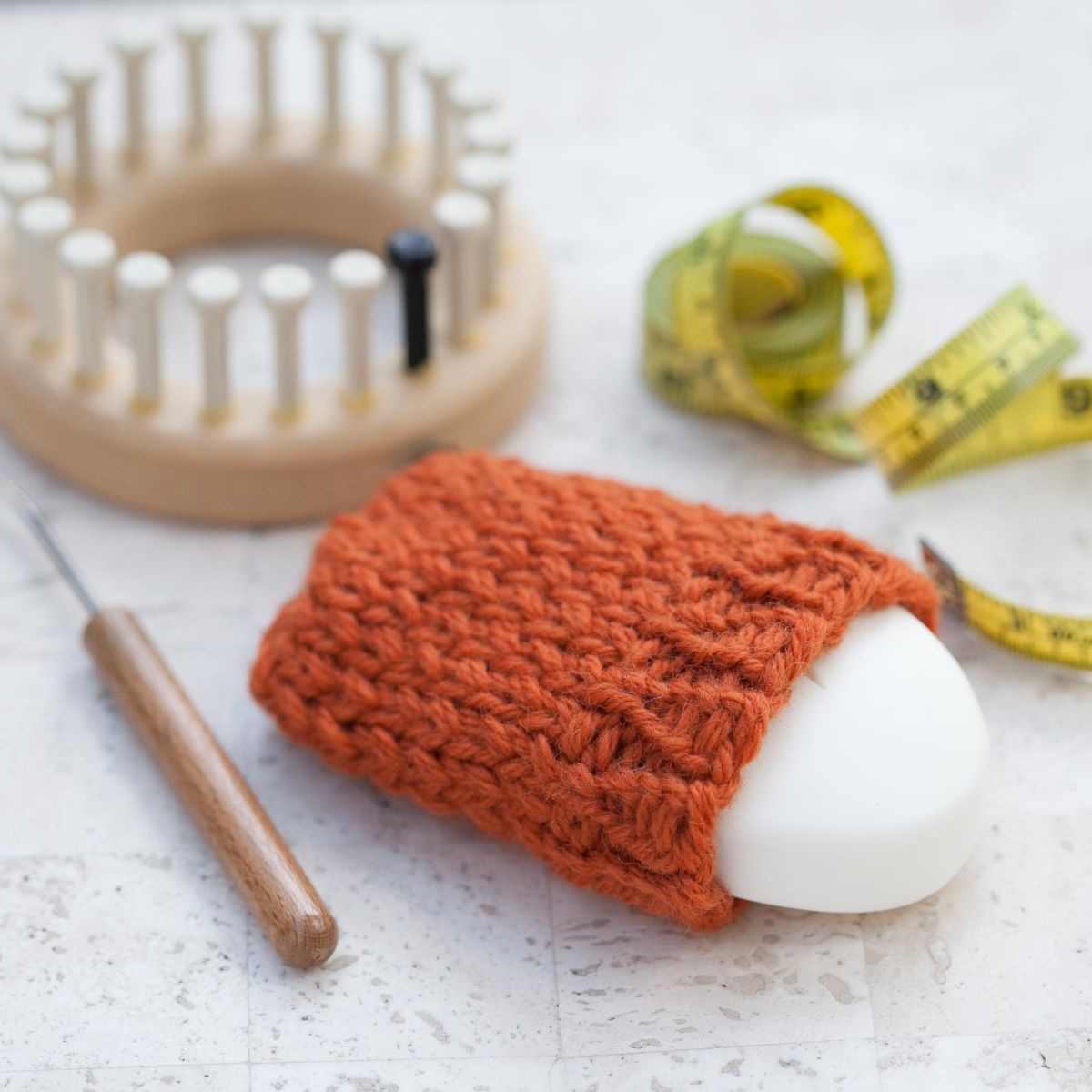 LOOM KNIT WOOL SOAP SACK | Soap holder, Loom knitting and Patterns