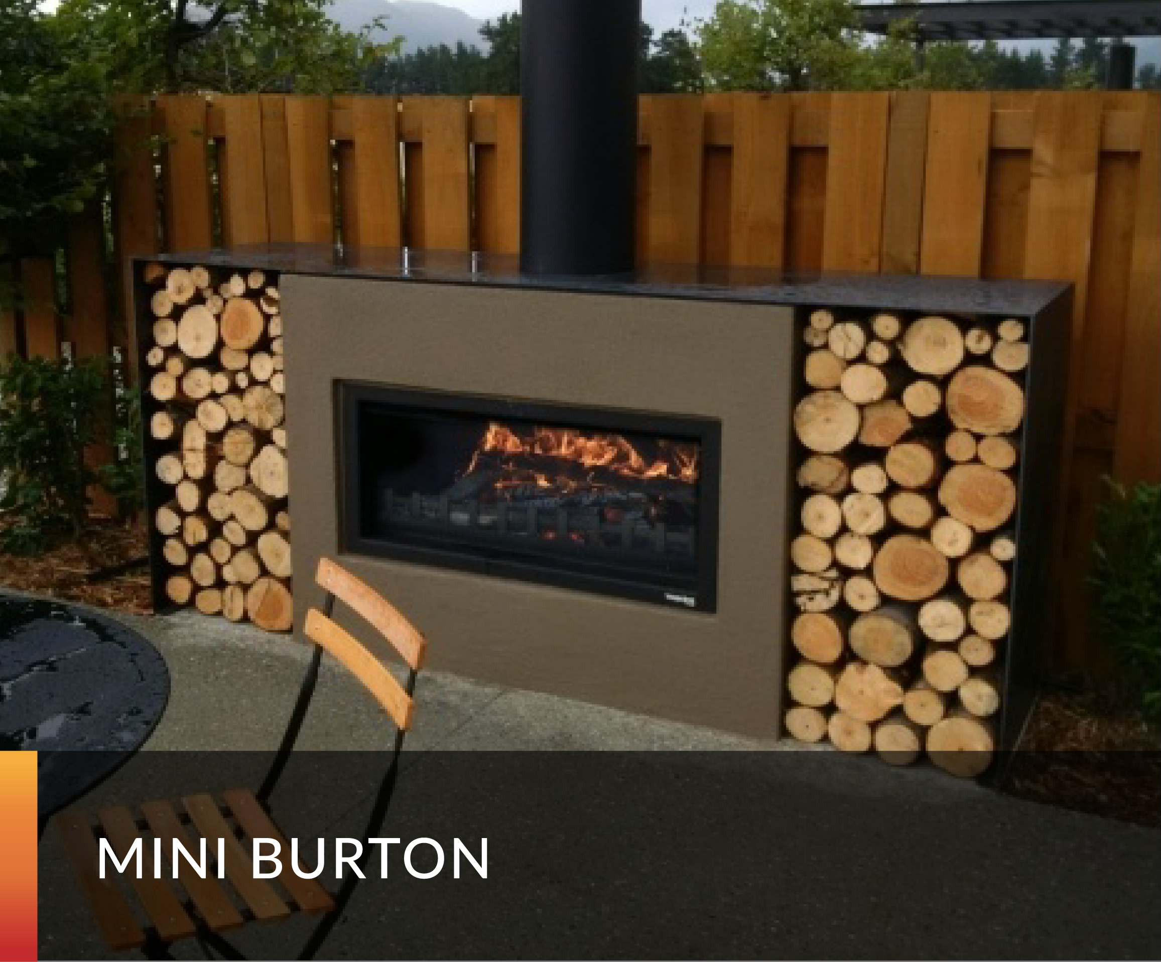 Outdoor Fireplace Wood Fire Modern And Contemporary Woodbox