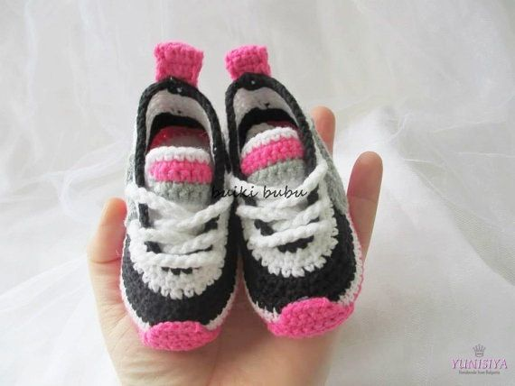 Crochet Baby Booties Crochet Baby Sneakers Crochet Baby Shoes