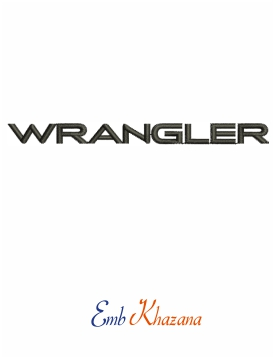 Jeep Wrangler Logo Embroidery Design Jeep Wrangler Embroidery Logo Embroidery Designs