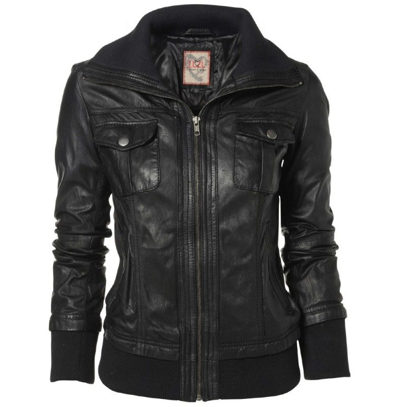 jacketers.com womens-black-leather-jackets-05 #womensjackets | All ...