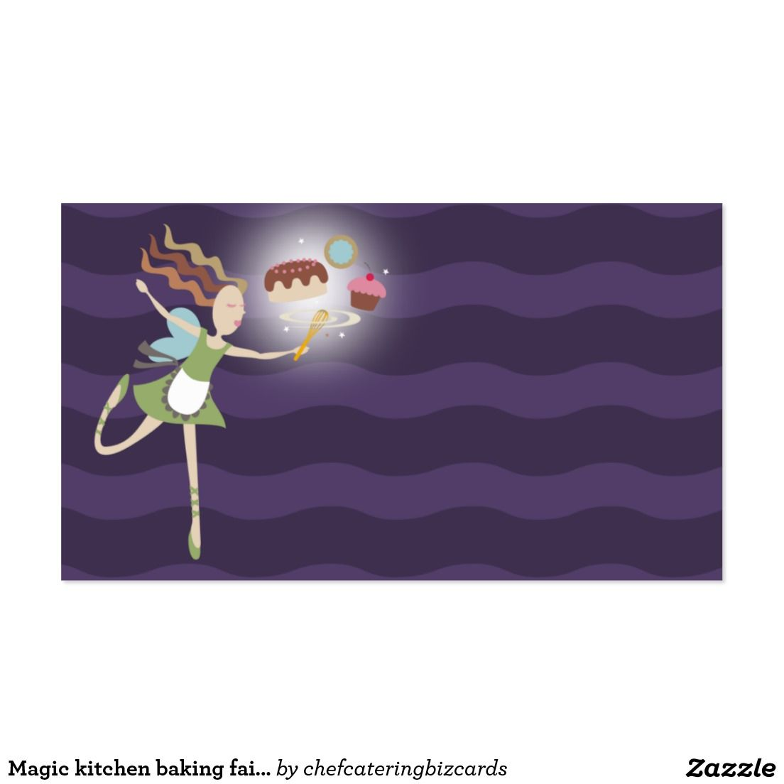Magic kitchen baking fairy cake cookie cupcake business card ...