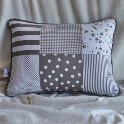 Coj n cuna patchwork cojines pinterest camas for Cojin para leer en la cama