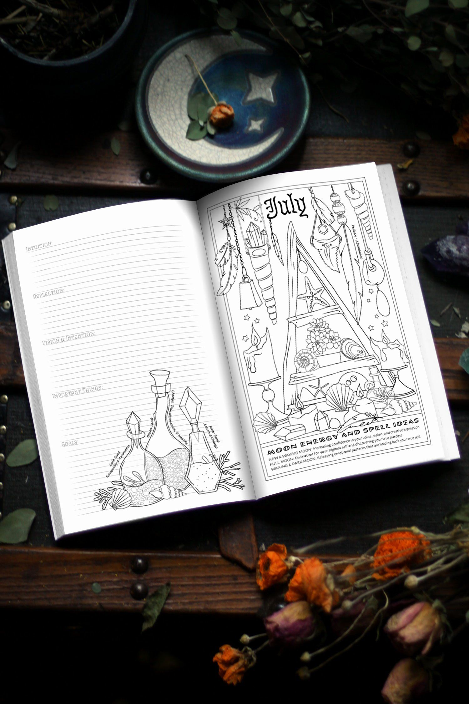Coloring Book Of Shadows Witch Life Amy Cesari 9781719185769 Amazon Com Books Witch Coloring Pages Coloring Books Detailed Coloring Pages