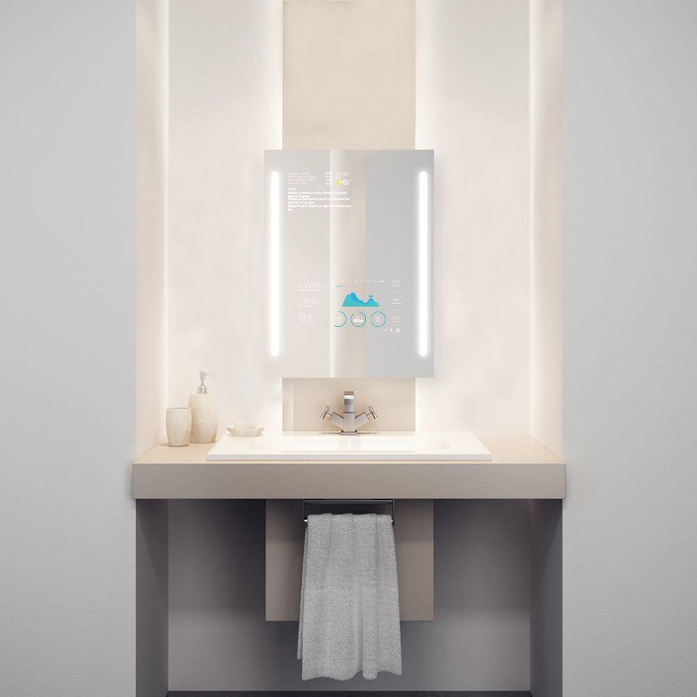 Modernes badezimmerdekor 2018 die true light technologie im qaio smart spiegel lässt sie das licht