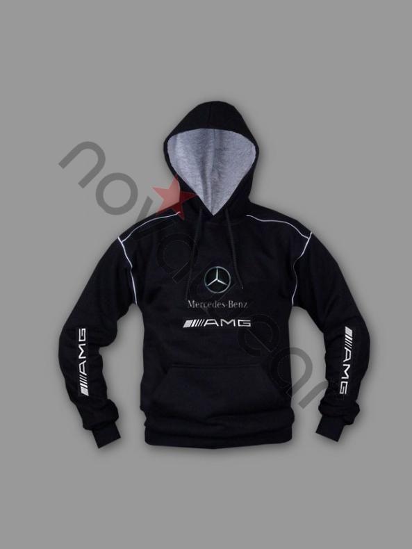 Mens Mercedes AMG Auto Hoodie Sweatshirt Jacket