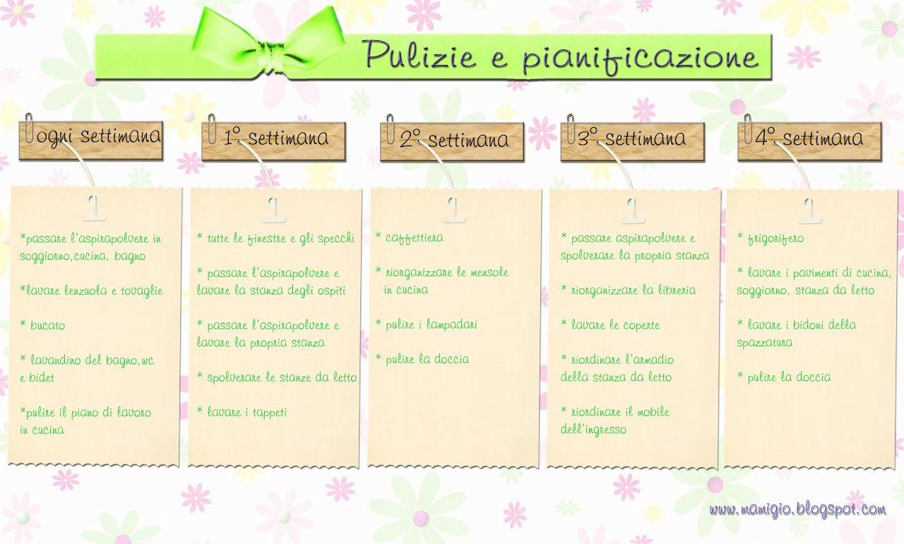 Mamigio pulizie printables pinterest organizzazione - Pulizie di casa consigli ...