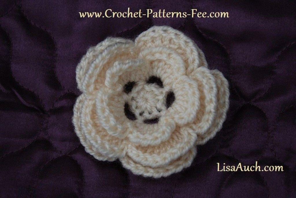 Free Crochet Flower Patterns | Patrón gratis, Ganchillo y Flor