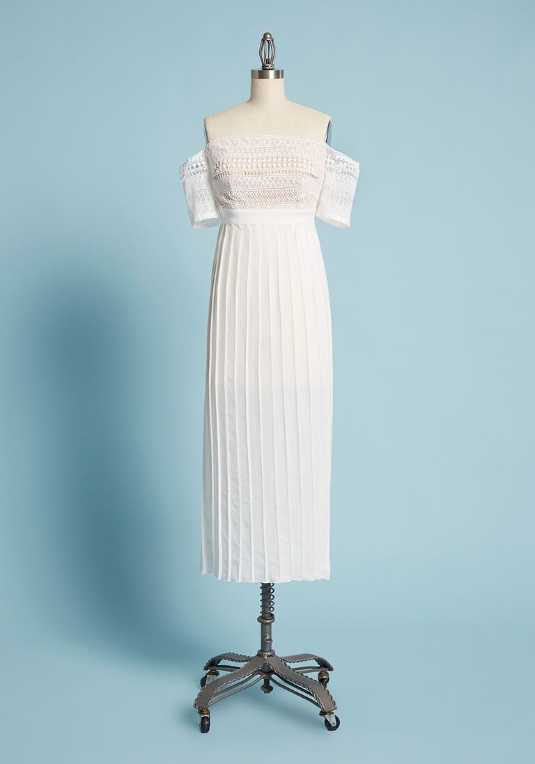 Dream Come True Off-the-Shoulder Dress in 16 (UK)
