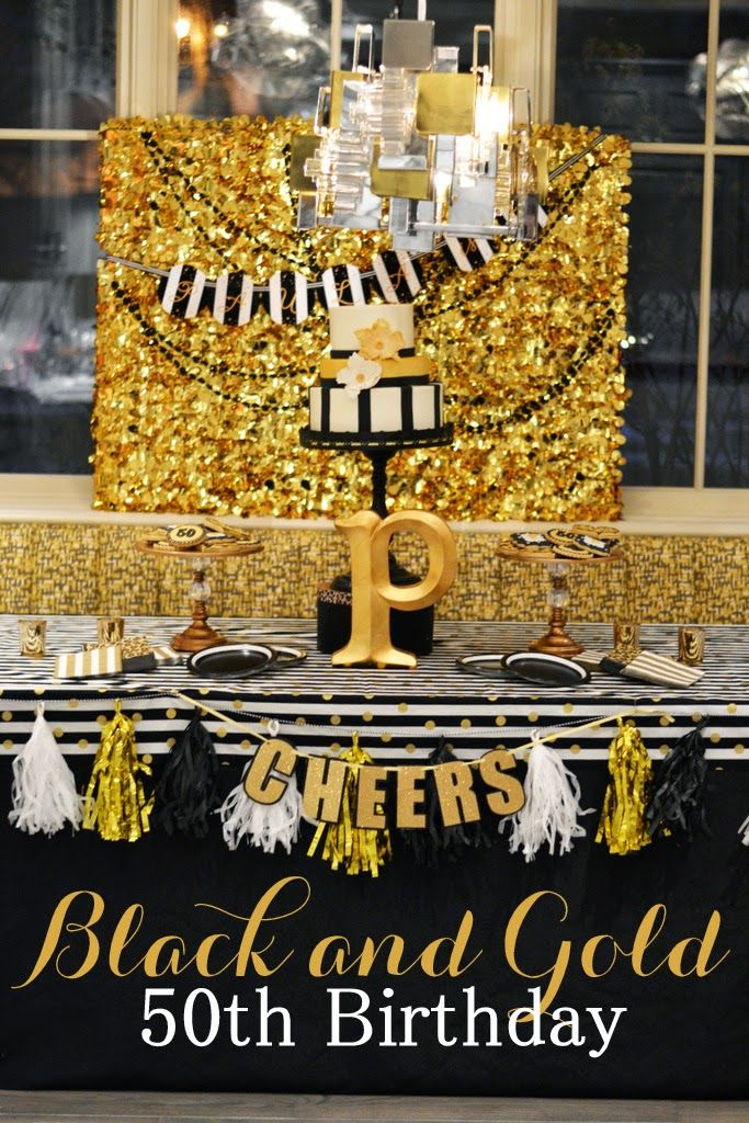 Black and Gold  Leopard Skin Birthday Party IdeasBlack and Gold 50th Birthday by GreyGrey Designs   Party Idea  . Party Ideas For Fiftieth Birthday. Home Design Ideas