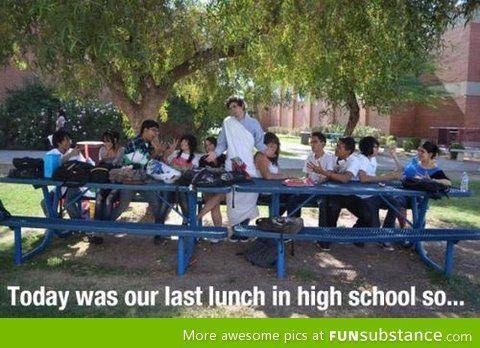 Proper way to end highschool.