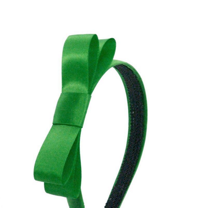 Emerald Green Bow Headband - Blair Waldorf Gossip Girl Headband - Preppy Bow Headband - Large Bow on Headband for Adults or Girls