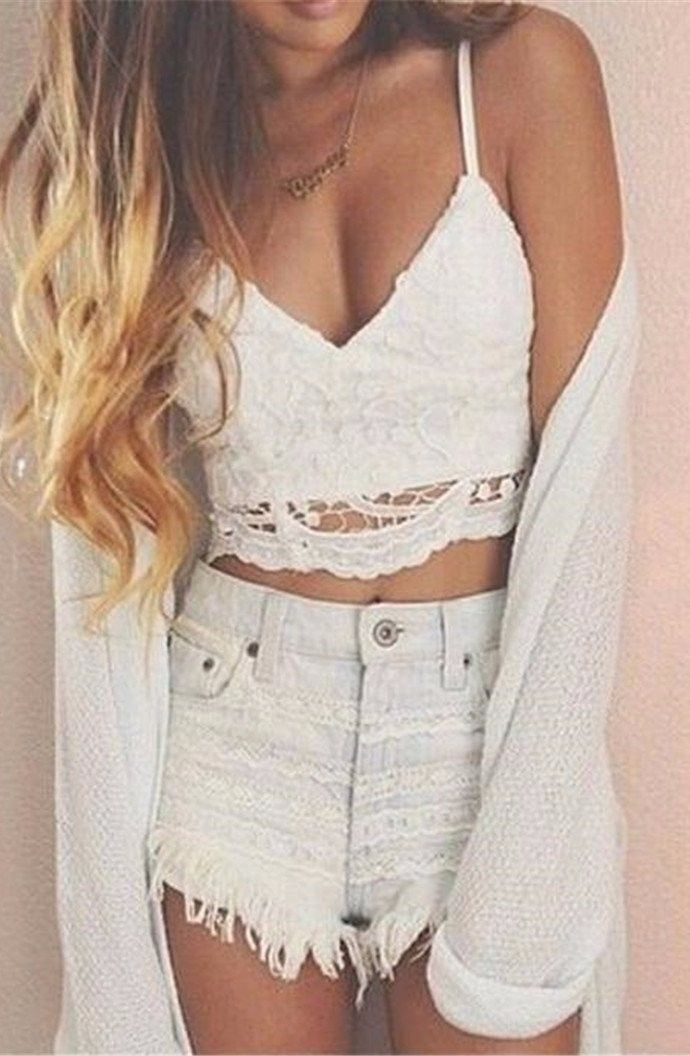 68935b92a00652 Lace bralette because crop tops are cute to wear all day everyday