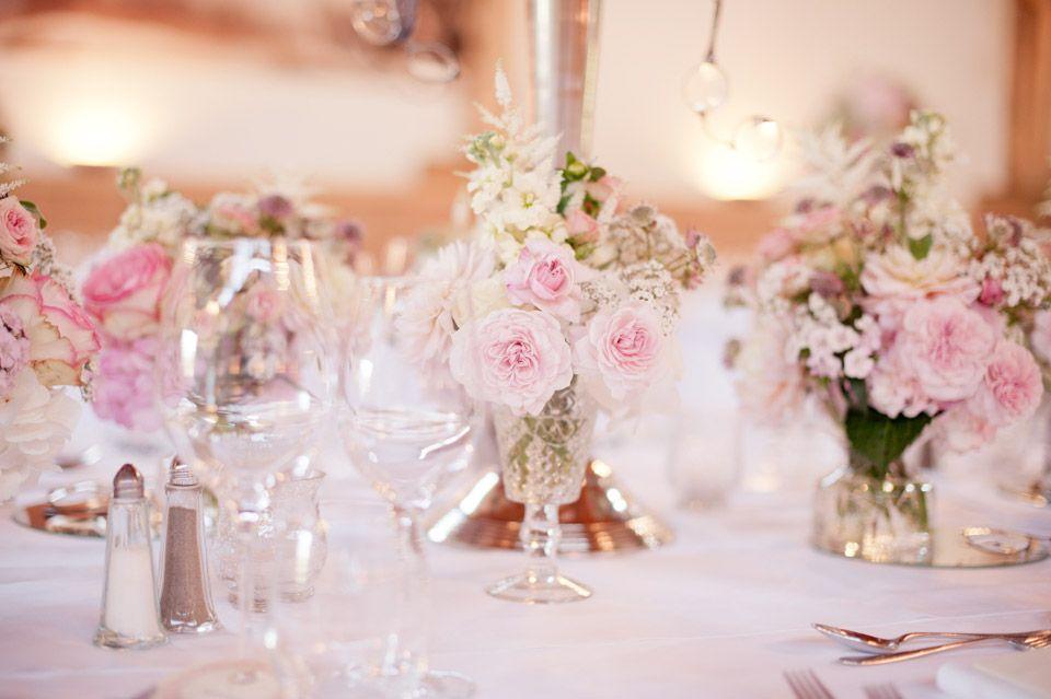 Rosa Weiss Kleine Vasen Hochzeitsdeko Blumen Pinterest