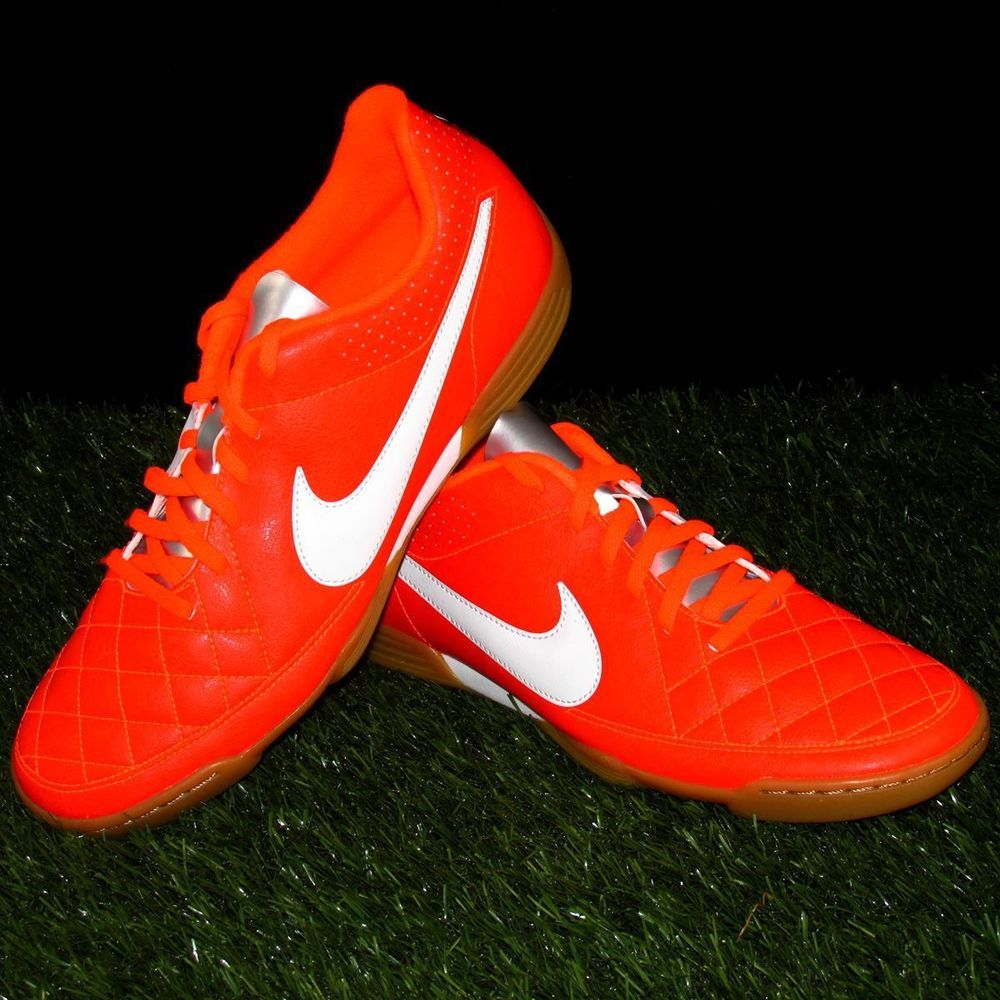 outlet store 6e542 11ec3 Nike Tiempo Rio II IC Indoor Soccer Shoes Mens Size 10 CrimsonWhiteSilver  Nike IndoorSoccerShoes