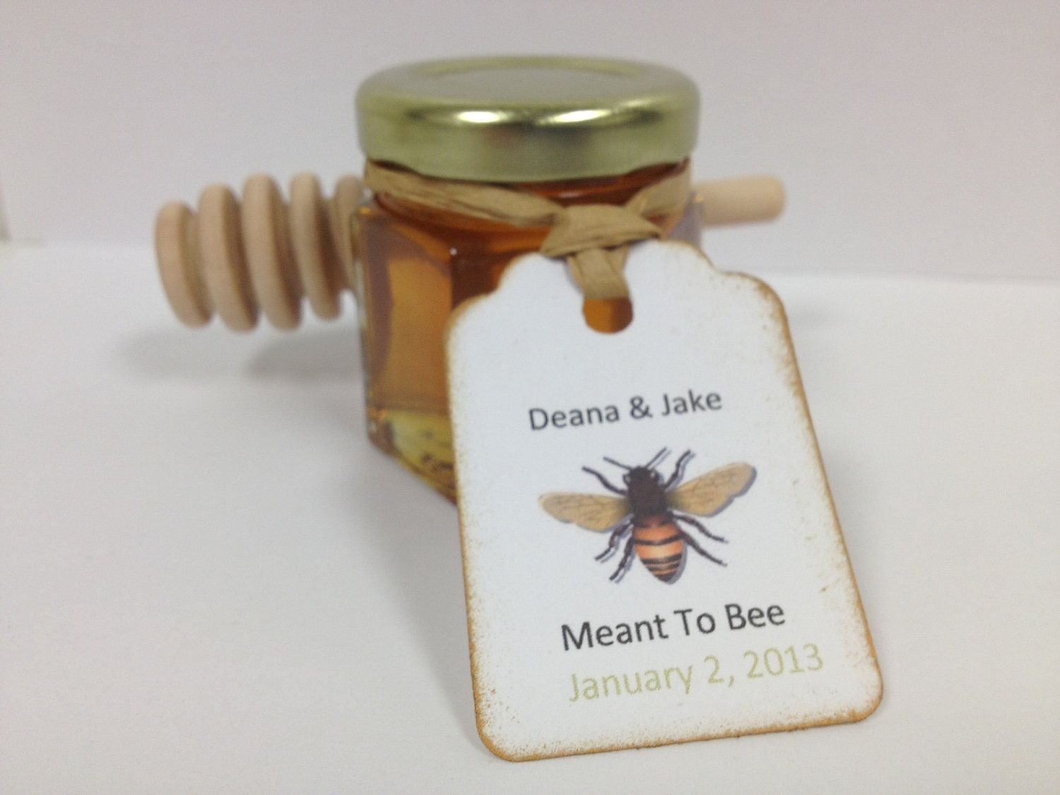 100 Qty Meant To Bee Honey Wedding Shower Favors With Dipper ...